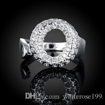 Оптово - розничная низкая цена Рождественский подарок, бесплатная доставка, новый 925 серебряная мода RingyR028
