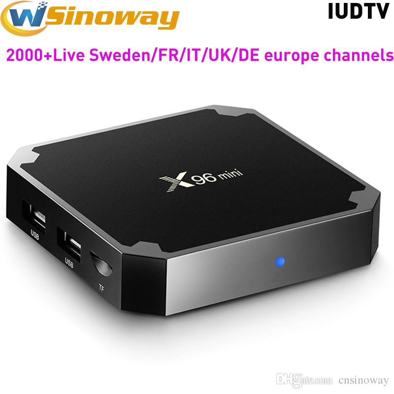 Sweden IPTV Box Android TV Boxes X96Mini With IPTV Europe IUD Watch Arabic  French Spain Italy UK DE Indian TV Channels X96 mini