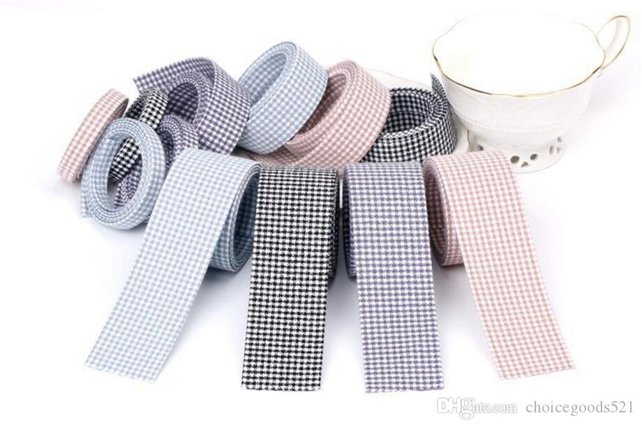 Free Delivery 10mm 25mm 40mm Plain colour Plaid high quality printed polyester ribbon ,DIY handmade materials,wedding gift wrap,Bow tie hair