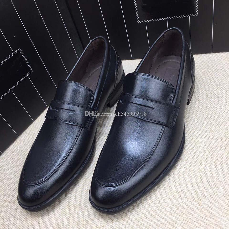Best Quality Real Leather Cowhide Men Casual Shoes Luxury Designer Oxford Mocassin Dress Shoes Zapatos Hombre Rubber bottom us:5-10
