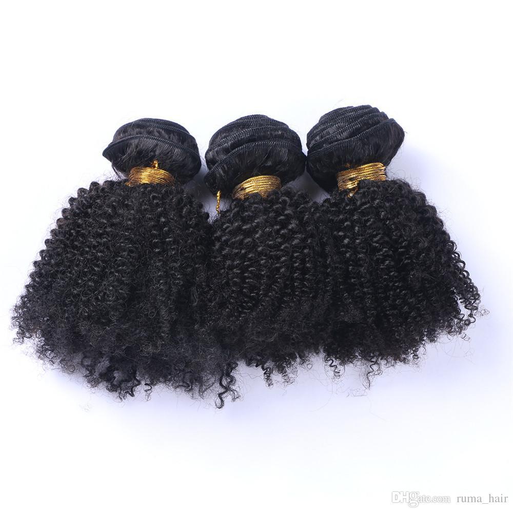 8A Peruano Indio de Malasia Mongol Camboyano Brasileño Rizado Virginal Del Pelo Del Armadura Del Pelo 3/4/5 Bundles Barato Rizado Curly Extensión Del Pelo Humano