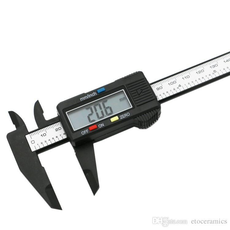 150 mm 6 pulgadas LCD Digital Fibra de Carbono Electrónico Vernier Caliper Calibre Micrómetro envío gratis