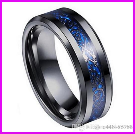B051 Hot Style Black Gold Carbon Fiber Dragon Ring Jewelry Men Titanium  Steel Ring Stainless Steel Domineering Dragon Ring For Men Women Engagement  Rings ...