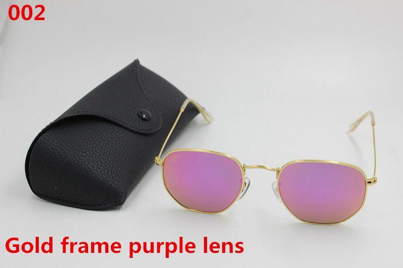 2017 New to the fashionable men and women fashion designer sunglasses gold color restoring ancient ways framework pink lens black box