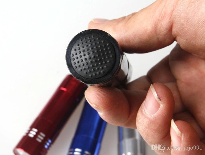 UV Ultra Violeta 9 LED Lanterna Mini Blacklight Chaveiro Tático Tocha Luz Da Lâmpada anel Chave Preto