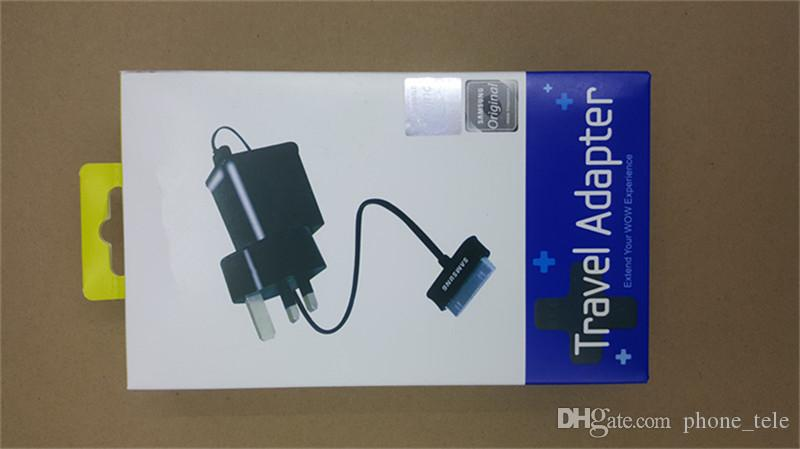 For Samsung Tablet Wall Charger with USB Cable 5V 2A US EU UK plug Laptop Adaptive Charging Travel Power Adapter for Galaxy Tab P1000 N8000