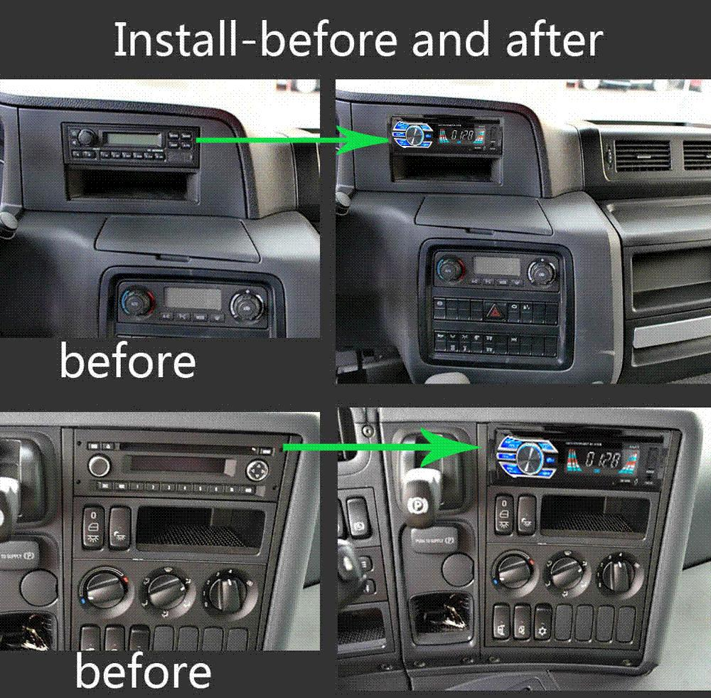 Car Inspection Coupons >> Best Truck School Bus Container Car 24V Car Radio Player USB SD MP3 Audio System FM /1DIN MP3 ...
