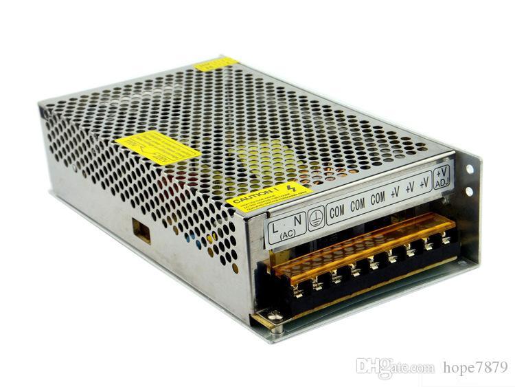 OUTPUT DC 5V 12V 24V 200W Transformatorer LED Strömförsörjningsförare Inomhusbelysning Tillbehör Inmatning AC 110V 220V