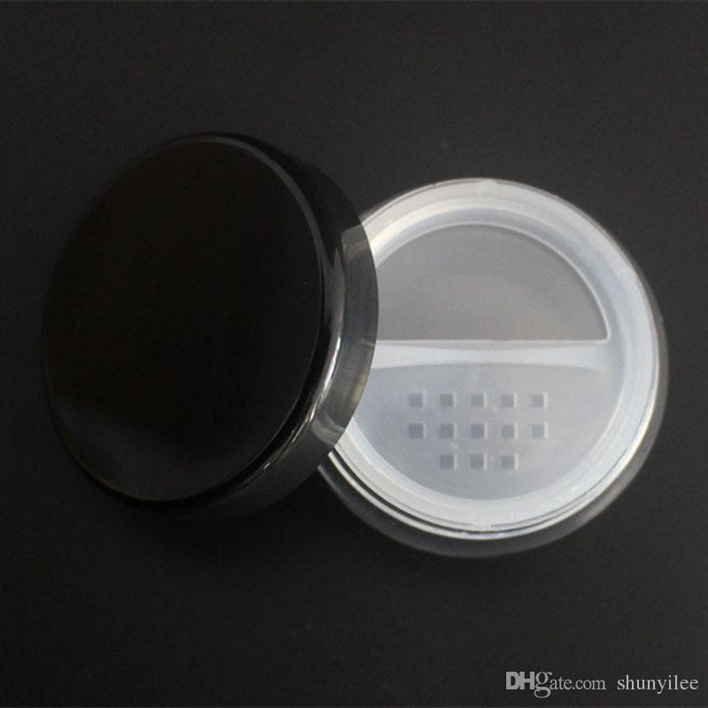 10g kosmetische Gläser mit Pulversieb-Masche mit Puderquaste Leere Dose Glasbehälter Make-up-Pulver Verpackungsflaschen F20171015