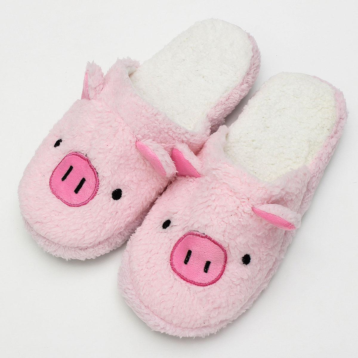Zapatillas de interior de invierno para mujeres (EU 38'39, Brown Pig)
