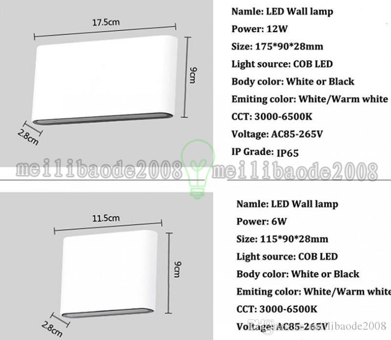 NEW 6W 12W COB IP65 cubo regolabile da esterno a LED esterni, applique da parete a LED, su parete a LED MYY