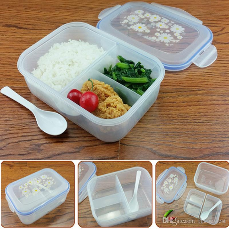 Fashion High Capacity Dinnerware Sets Pp Bento Lunch Box Food Container Handle Singel Layer Lunch Box Tableware High Quality Unique Dinnerware Sets ... & Fashion High Capacity Dinnerware Sets Pp Bento Lunch Box Food ...