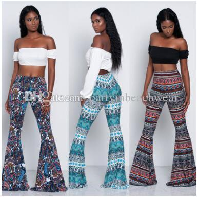 bbf130d9e34b 2019 Fashion Flora Printed Long Pants Full Length Paisley Printed Capris  Women Bohemian Beach Seaside Bootcut Pants Summer Holiday Loose Pants From  ...