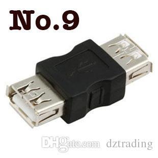 الجملة / ميني USB 2.0 أنثى A إلى USB 2.0 أنثى B محول موصل