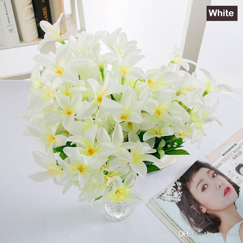 Amazing Value 45CM Long Lily 30Heads Artificial Flower Silk Flower Table flower for Wedding Anniversary Home Decoration 105 - 1014