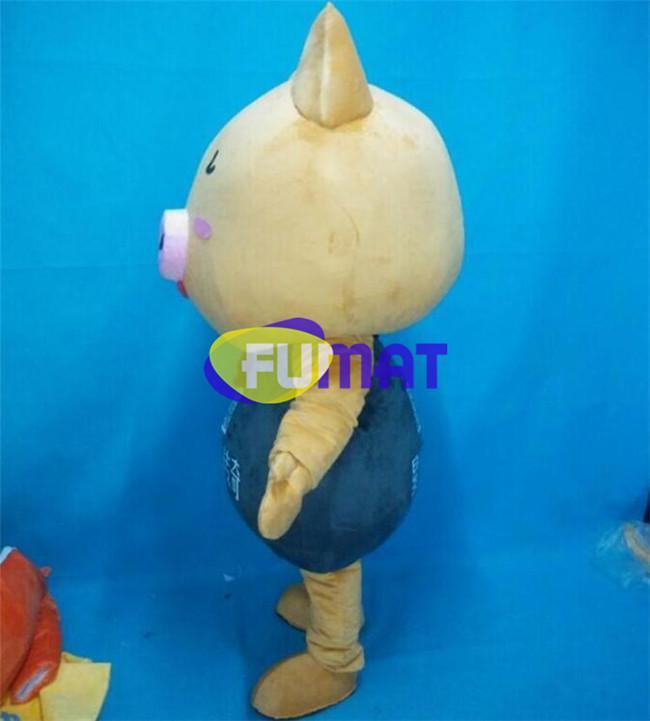 FUMAT Cerdo Dorado Disfraces de Dibujos Animados Animal Cerdo Dorado Animado Lindo Cerdo Disfraces de Mascota Ropa Para Caminar Rendimiento Vestido Personalización