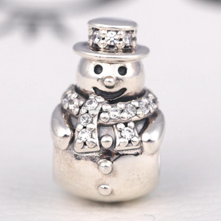 Sterling Silver Snowman Charm