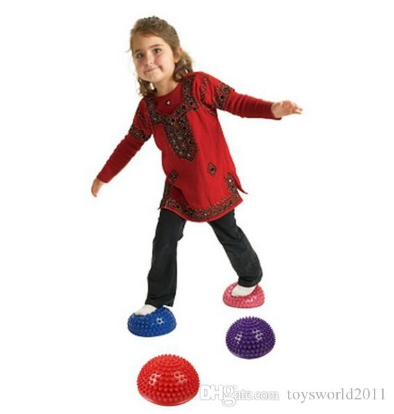 Hemispheres Stepping Stone Durian Massage Ball Children Kindergarten School Sensory Integration Balance Training-Colors Assorted
