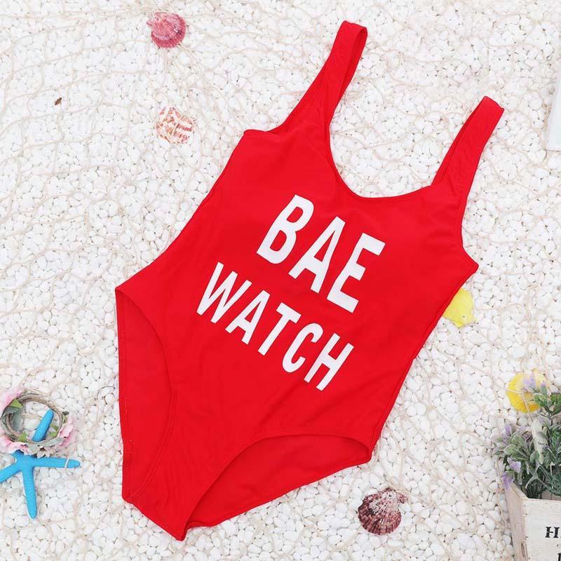 2017 Nueva Llegada Rojo de Una Pieza traje de baño Sexy Push up traje de baño Mujer Carta Body Mujer Playa de Verano Traje de Baño Traje de Baño