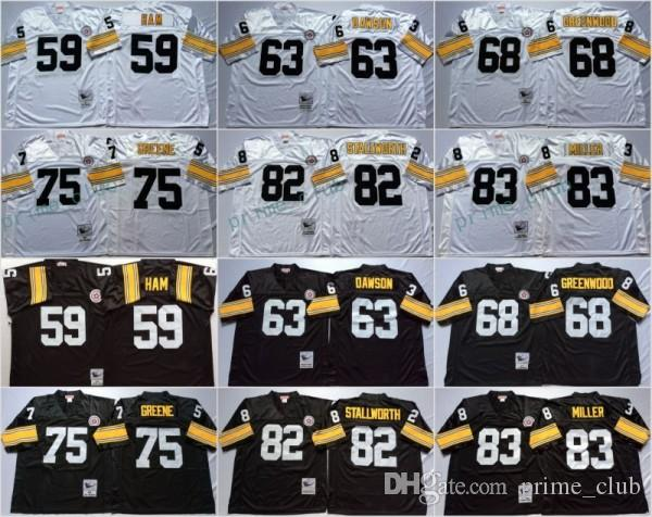 b86a15305 5 Nike Pittsburgh Steelers 63 Dermontti Dawson Black Player Pullover NFL  Hoodie Football ...
