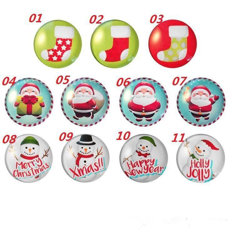 New Christmas Fridge Magnets Sticker Pupazzo di neve Babbo Natale Tazze Xmas Fridge Magnete magico Home Decor Glass Cabochon Sticker