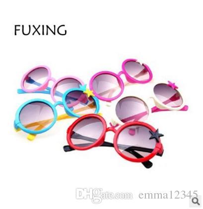 Factory Wholesale New Korean Star Children s Sunglasses Plastic UV  Sunglasses Child Star Sunglasses Oculos De Sol Sunglasses Brands Sunglasses  for Kids ... a1661c5ba4