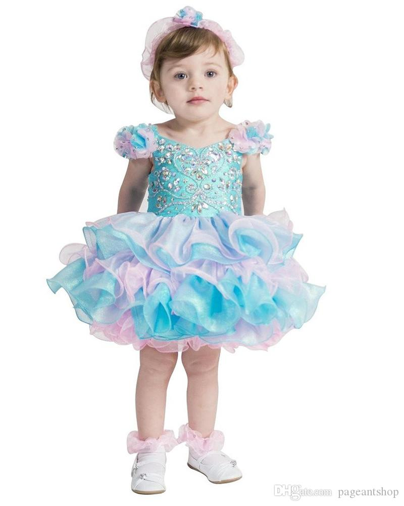 Turquoise Glitz National Diy Pageant Cupcake Dress Infant Birthday ...