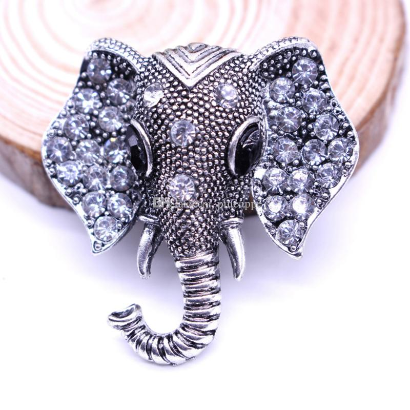 Heat pin accessories fashion Retro badge Elephant Inlay Drill animal alloy brooch flower lapel pinEmblem alloy men and women wedding brooch