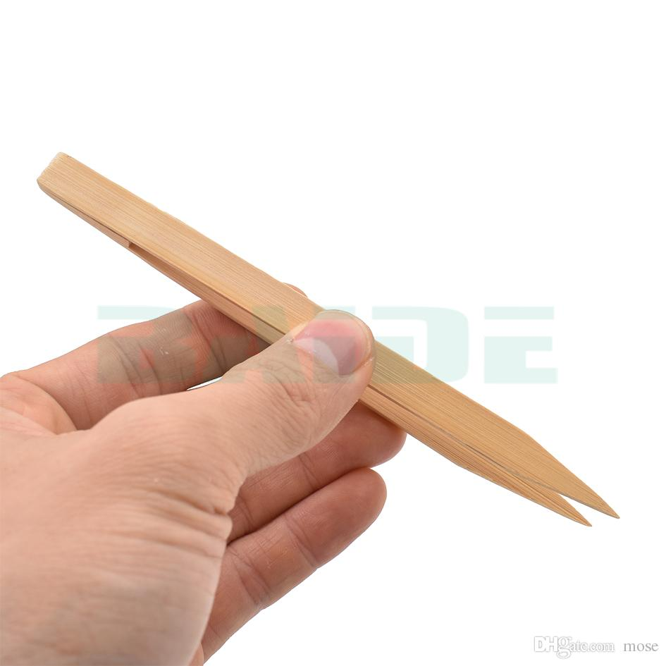 15cm Antistatic Dust-free Cuspidal Bamboo Pincette Straight Head Tweezers Nipper Electronics Tool for Phone Repairment