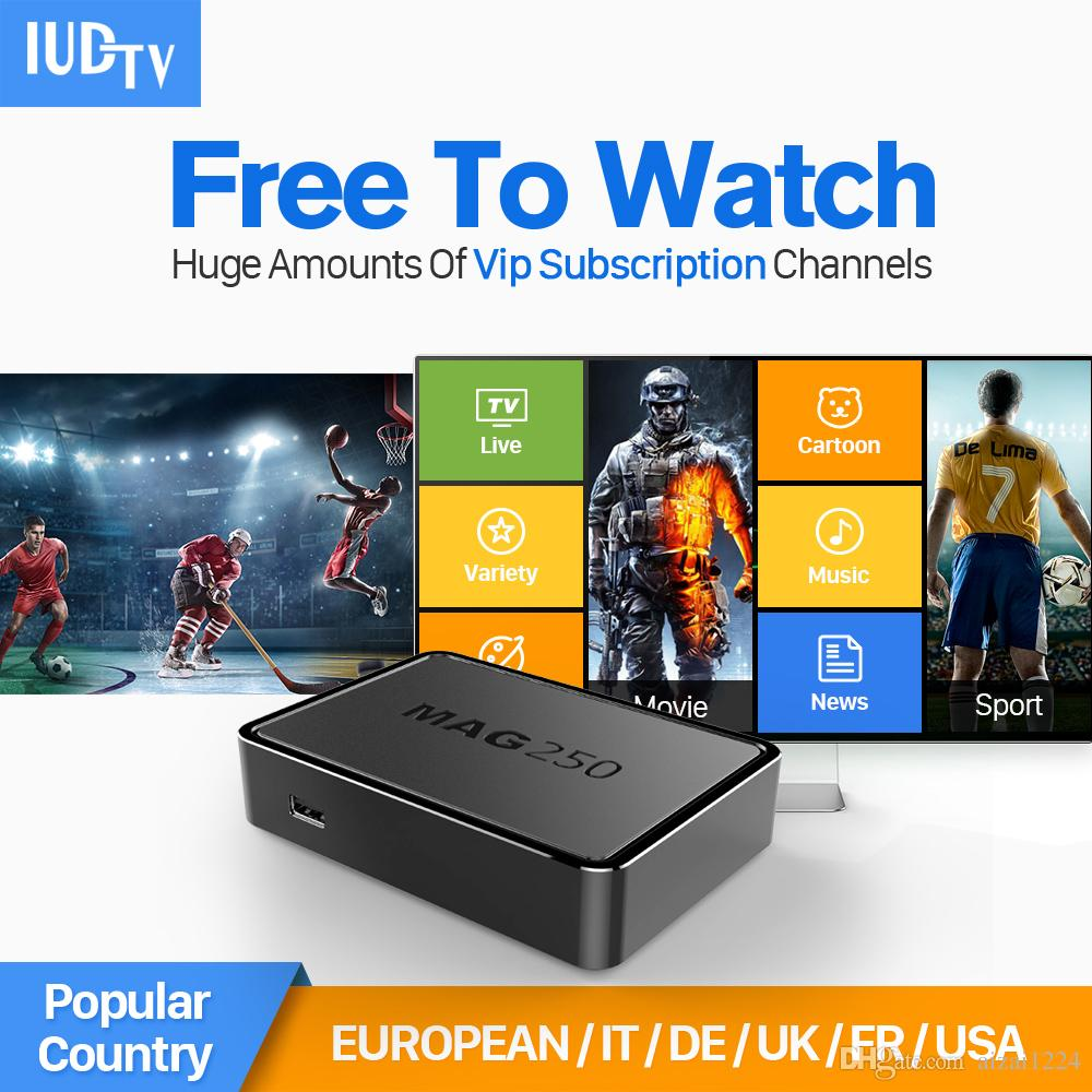 Linux IPTV Box Mag 250 Iptv Set Top Box Europe Arabic IPTV Account Include Greek/Portuguese/Spanish/Indian/English Channels