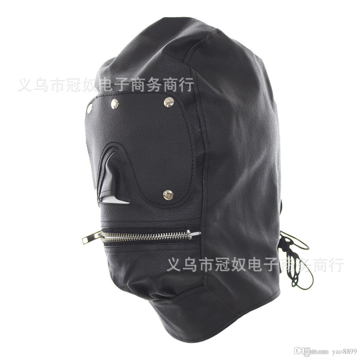 Bdsm sex toys choking stifle suffocate asphyxia game Sex Head Face Mask Blindness Hoods Bondage BDSM Products