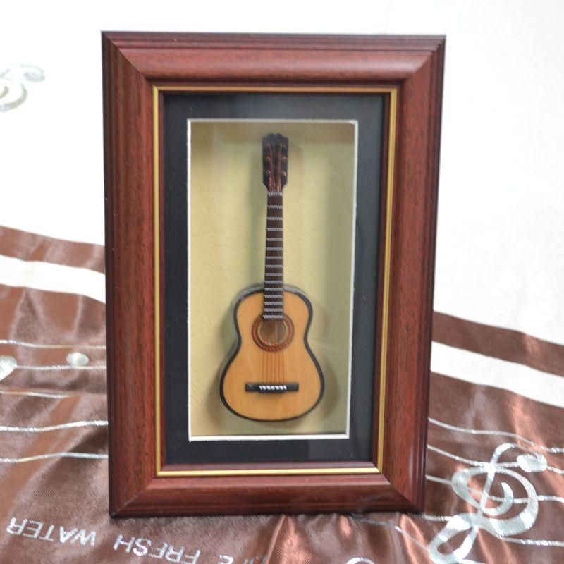 Чистый ручной mad мини-дерево гитара модель рамка гитара модель дисплей кадр лучшие подарки