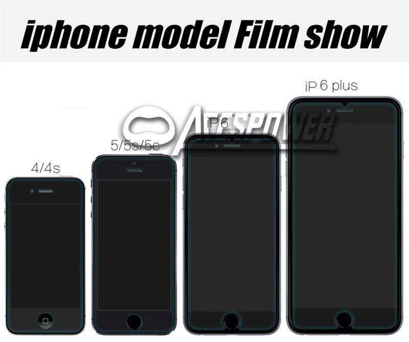 Vidro temperado para iPhone 12 Mini 11 Pro Max XR 8 7 6S Plus Protetor de tela com pacote de papel