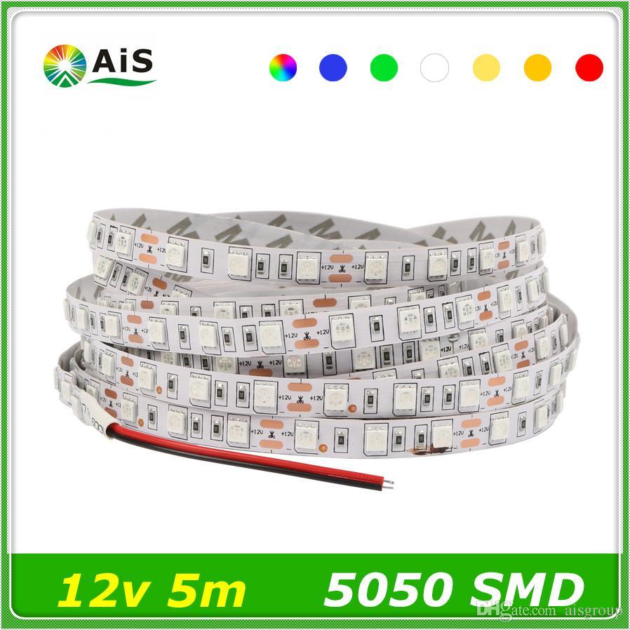 60leds/M 300led/Roll Digital Smd 5050 Rgb Ledstrips Dc12v Flexible ...