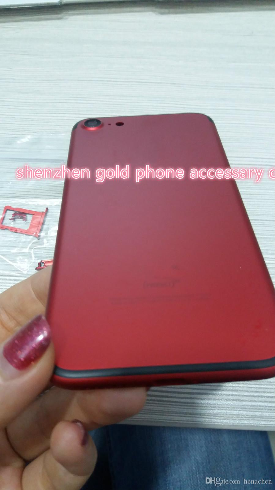 Best Red New Replacement Red Back Housing For Iphone 7 Alloy Middle ...