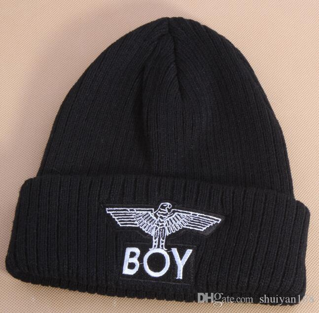Wool Knit Warm Beanies Hip Hop Fashion Winter Knitted Cap Letter Men Cotton Hat Fashion Skullies Hat Eagle Outdoor Accessories DHL Free