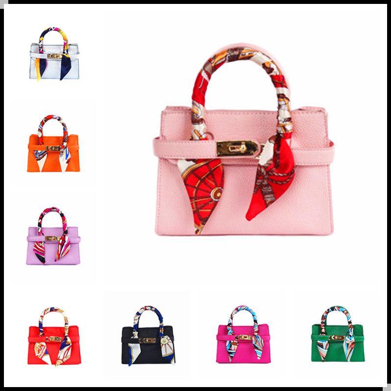 54cd89c50597 KIDSWANT With Scarf Kid Handbag Fashion Girls PU Leather Messenger Bags  Baby Girl Tote Design Handbags Children Bag Designer Kids Purse Little Girl  ...
