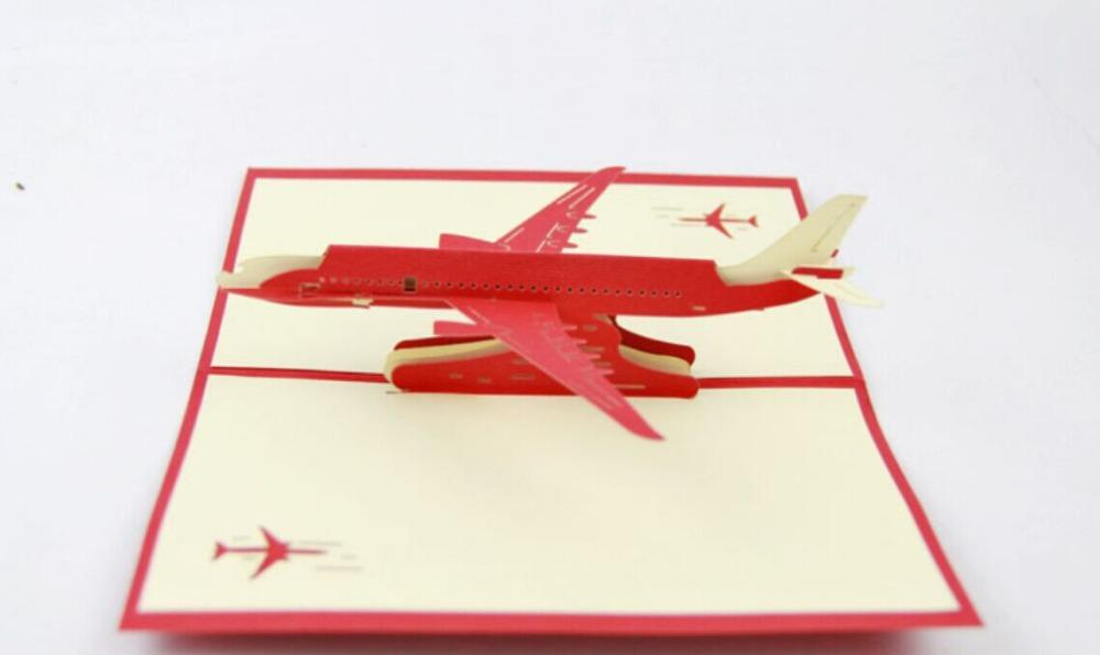 Wholesale Airplane Pop Up Card 3D Airpcraft Kirigami Handmade Greeting Cards Gift For Men Birthday Greetings From Galry