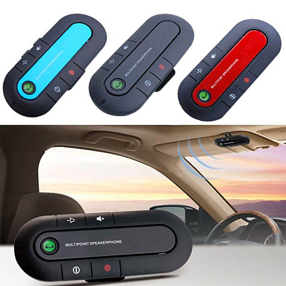 Altavoz Inalámbrico Coche en Manos Libres Clip Visor kit de teléfono Bluetooth Delgada Magnética