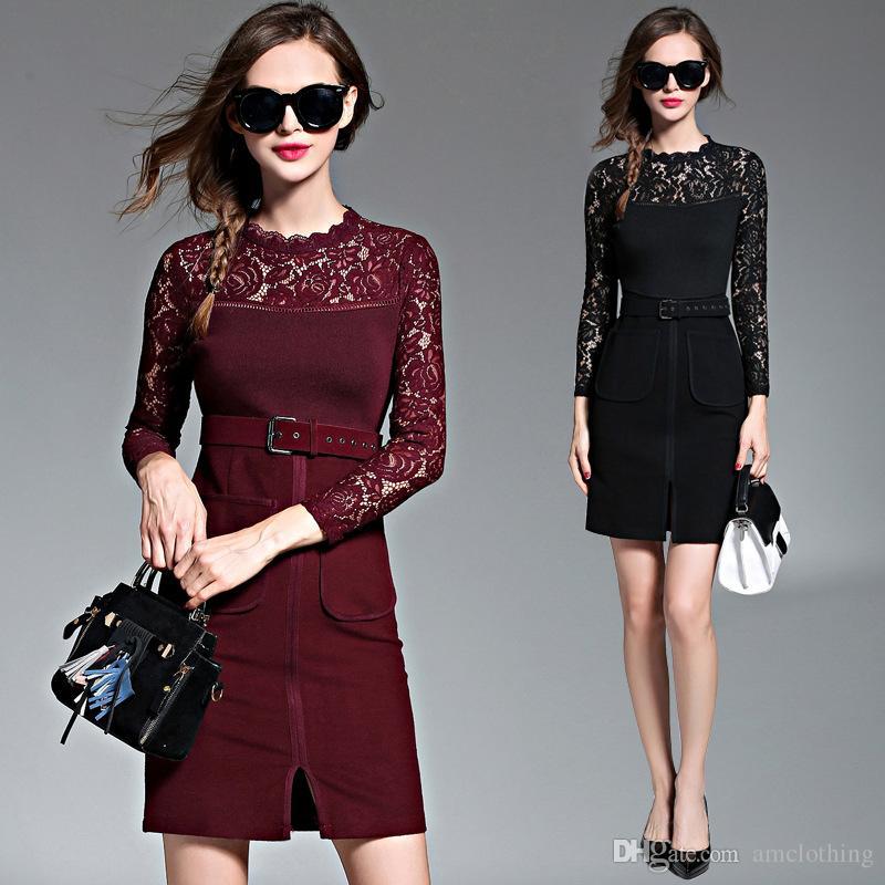 2017 spring europe america new fashion latest casual dress