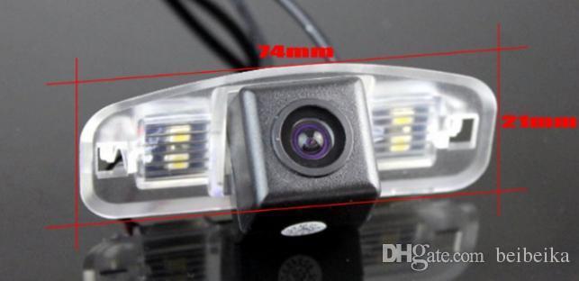 Car Camera For Honda Accord 2008~2012Europe Rear View Camera / HD CCD RCA NTST PAL / License Plate Light OEM 1056