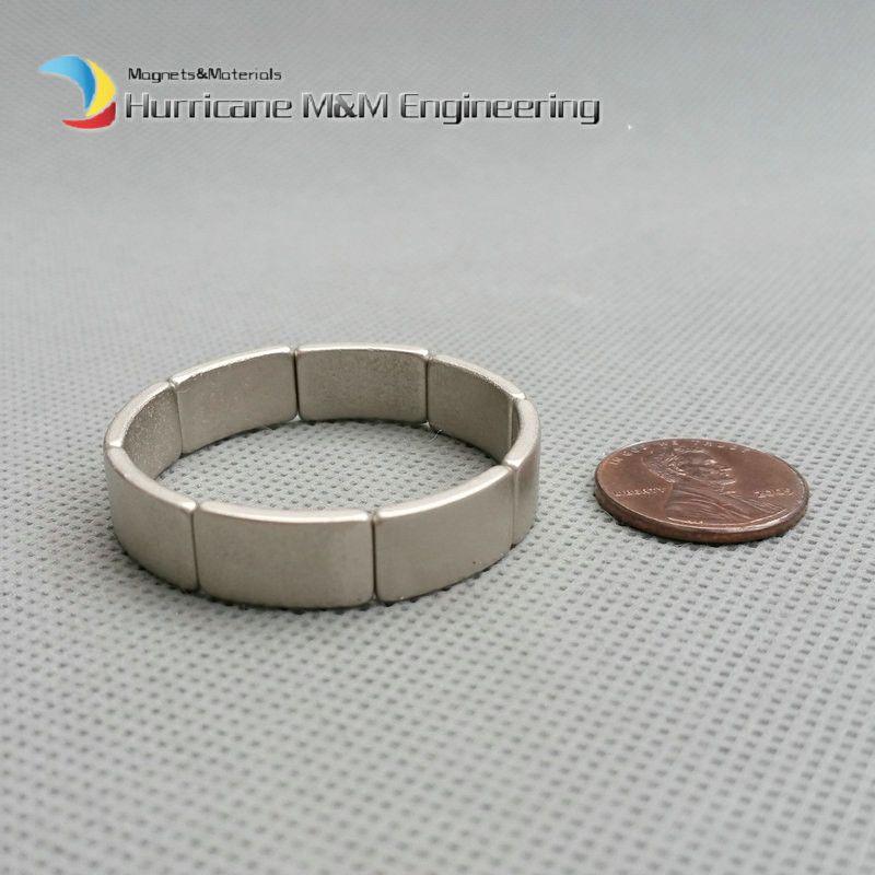 1 Packung NdFeB Bogen Segment OD38xID34x45degreex8 mm N42M Diametral Moto Magnet für Generatoren Wind Turbine Neodym Rotor Magnet