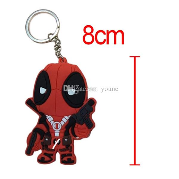 2 Sty Marvel Anime X-MEN Deadpool PVC Keychain Toys Action Figures Toy Dolls For Collections Q Version 8cm Can Choose
