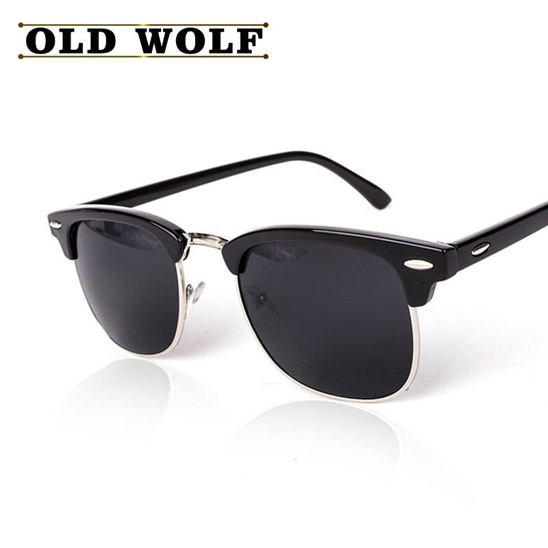 f882ec8b9b2 Wholesale-CLASSIC Half Metal Polarized Sunglasses Men Women Brand ...