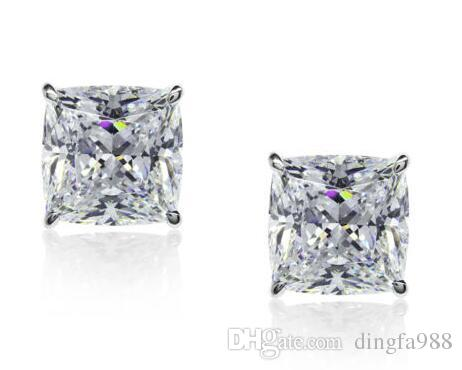 400c5d21a 2019 1.50CT CUSHION CUT DIAMOND STUD EARRING 14K WHITE GOLD SOLITAIRE  DIAMOND STUDS From Dingfa988, $50.26 | DHgate.Com