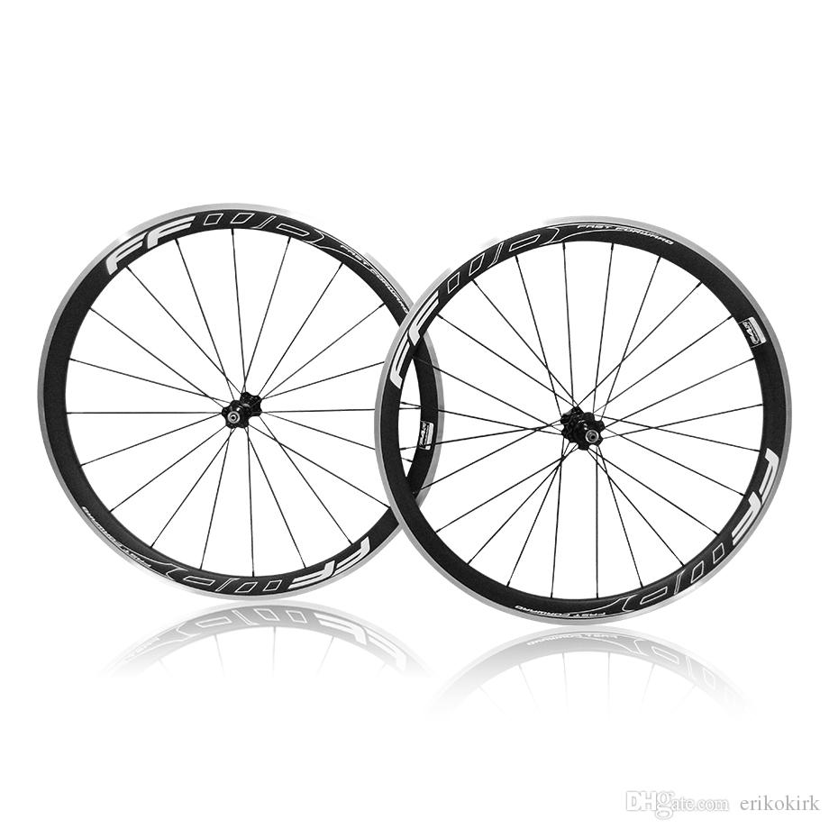38mm FFWD Alloy Carbon A271 Wheelset Clincher Black paint style carbon Tubular wheelset road bicycle wheels