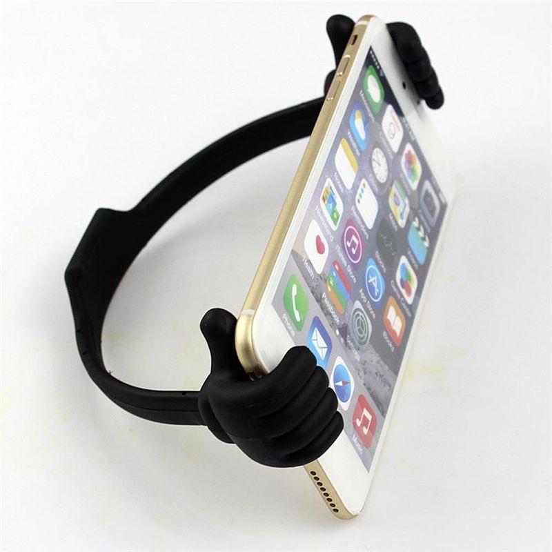 Support de téléphone universel Support de téléphone Clip de bureau Support de support Support de pouce pour iPhone 5 6 6plus 7 8 X Samsung S3 S4 S5 Note 2 3 Mini Tablet