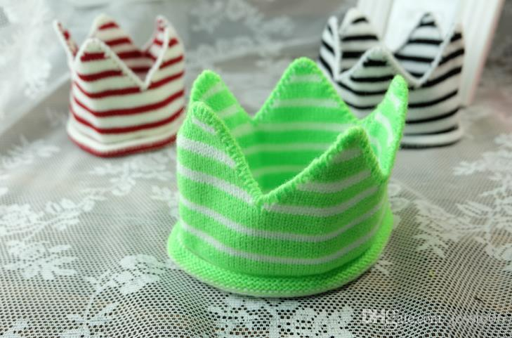 Birthday party knitting stripes crown hat headband sleeping eye mask Holiday Photography props kids Christmas fancy dress props