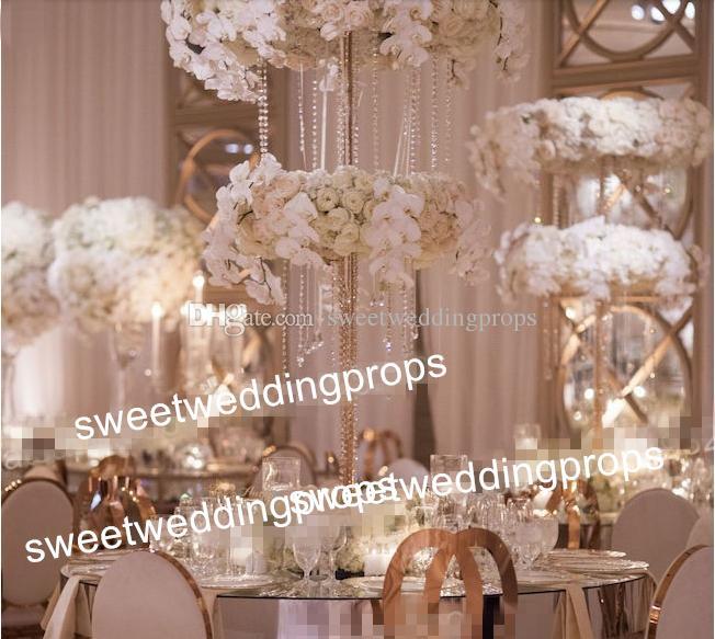 sadece zihinsel standı uzun yuvarlak düğün kat centerpieces, zihinsel geçit düğün yol