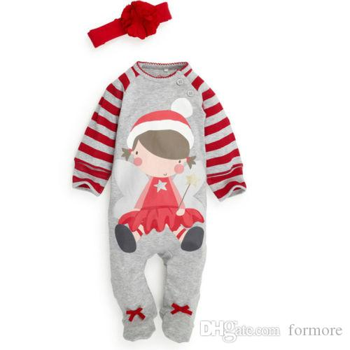 e08ac0c6496 2018 Christmas Pajamas Baby Romper Set Santa Claus Toddler Outfit Grey Jumpsuit  Unisex Onesies Legging Warmer Leotards Xmas Kids Clothing Childre From ...